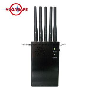 Portable 5 Bandas Blocker para /3G/4G teléfono móvil, WiFi, GPS, Lojack, señal de móvil Jammer; Antena 5 Jammer; Bloqueo de Lojack, GSM y GPS celular Jammer