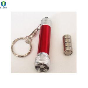presente de promoção publicitária Mini lanterna LED com porta-chaves