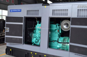 leiser Dieselgenerator 280kw/350kVA mit Motor Stamford Drehstromgenerator Cummins-Nta855-G2a