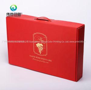 3本のびんまたはより多くのびんのためのカスタム安い無光沢の薄板にされたペーパーワインボックス
