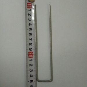 平らなポイント庭のステープル/U字型泥炭の釘/泥炭ピン