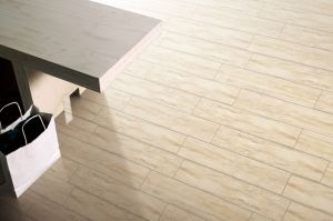 De de Houten Plank Verglaasde Muur van het Bouwmateriaal en Tegel van de Vloer