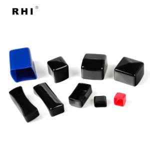 Weiche rotes Quadrat-SchlauchPlastikendstöpsel