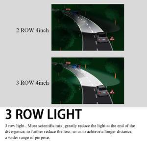 4X4 LEIDENE van de 7 LEIDENE van de Duim 72W Lichte Rij van de Peul Drievoudige Lichte Staaf voor Offroad