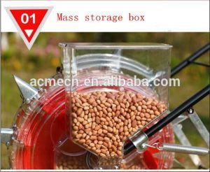 トウモロコシの手動手で押す種取り機の単一の列のトウモロコシのシードプランターおよび肥料