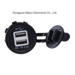 12-24V adaptador de cargador USB Socket toma de alimentación con luces LED