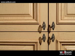 Welbom passte Entwurfs-Eichen-festes Holz-Küche-Möbel an