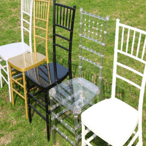 Weddings를 위한 까만 Resin Chiavari Chair