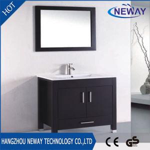 Vanità diritta della stanza da bagno del pavimento di disegno semplice con lo specchio