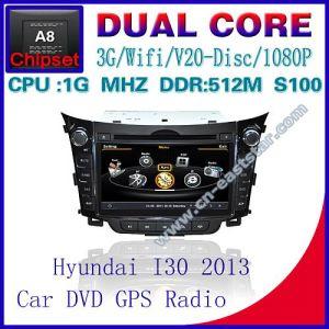 Alquiler de DVD para Hyundai i30 S100 de la Radio de navegación GPS Bluetooth Car Kit TV USB WiFi 3G 1g Video Audio Playe CPU