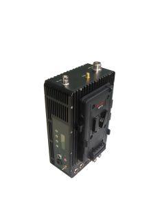 3-50kmの60ms遅延2W Cofdmのバックルの版の無線移動式ビデオ・カメラの送信機および受信機