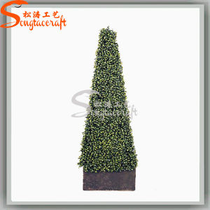 Decoração Graden planta artificial Topiary Buxo Pine Tree