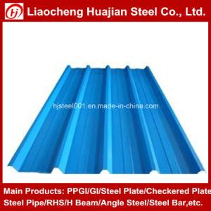 Feuille d'acier galvanisé en carton ondulé utilisé sur les toitures