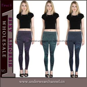 Mode de haute qualité Mesdames sexy jeans pantalon imprimé jambières (TF827)