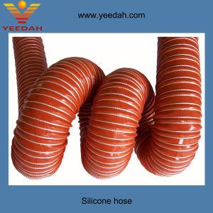 Jota tejido recubierto de silicona el conducto de aire