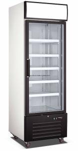 Congelatore dritto di vetro antigelo del singolo portello con illuminazione del LED