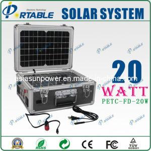 generatore di potere a energia solare 20W/sistema di illuminazione domestico solare portatile (PETC-FD-20W)