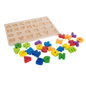 26 Lettre Alphabet Puzzle en bois naturel bébé Jouets éducatifs