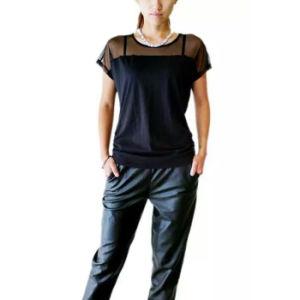 Горячая продажа индивидуального логотипа ослабление трикотаж футболка Топс женщин Tshirt