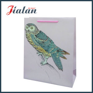도매 고아한 디자인은 로고에 의하여 인쇄된 싼 서류상 선물 부대를 주문을 받아서 만든다