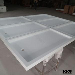 アクリルの固体表面の浴室のシャワーベース