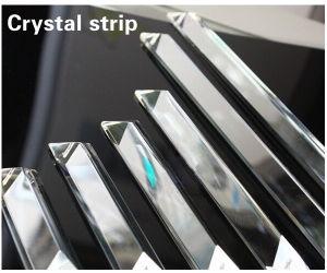 Nastro di vetro Pendant della striscia del lampadario a bracci della lampada a cristallo Pendant a cristallo di cristallo di cristallo degli accessori