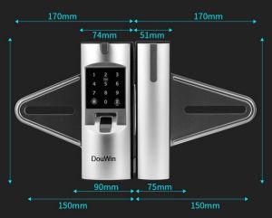 Het hoge Slot van de Deur van het Glas van de Ponsmachine van de Vingerafdruk van de Veiligheid Digitale