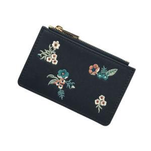 Nouvelle conception Lcq-0136 Lady Style élégant sac Wallet broderie détenteur de carte de crédit classique Coin sac à main pour 2018