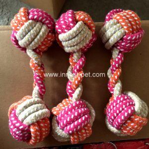 Multi-Farben Haustier-Produkt-Zubehör-Plüsch Baumwolle-Seil-Kugel Dumbbell-Hundespielzeug Fabrik-Verweisen