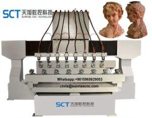 CNC di legno di Cylinderical 3D che intaglia la macchina del router di taglio