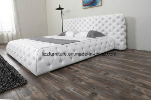 [إيوروبن] شسترفيلد أثاث لازم ليّنة غرفة نوم جلد سرير مجموعة