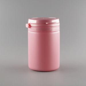 Cilindro de 50ml botella de plástico de HDPE de Caramelo con tapa de lagrimeo