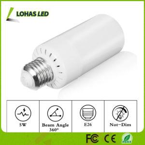 Natureza da cor da lâmpada LED chamas de fogo E12 E26 chama de LED de 5 W homologada para decoração de Festa de Natal
