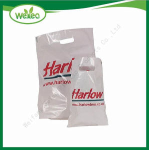 Biodegradierbarer Plastiktasche-gestempelschnittener Griff-Beutel