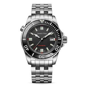 Swatchtimeの日本8215個の動きの完全なステンレス鋼の実業家のギフトの贅沢な方法服のアナログの機械か自動腕時計