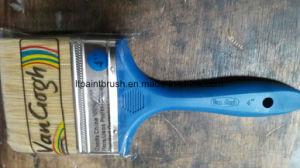 青いカラー固体Plasitcのハンドルが付いている毛ブラシ