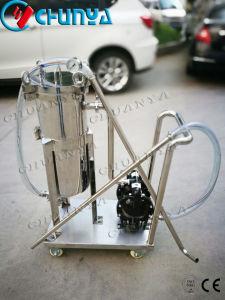 Alloggiamento mobile industriale del filtro a sacco dell'acciaio inossidabile con la pompa ad acqua