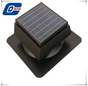 Material de acero de 15 vatios, Ventilador de techo solar montado en el techo