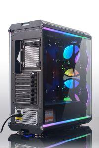 رفاهيّة تصميم قمار حاسوب حالة مع أربعة زجاج وأربعة [رغب] شريط