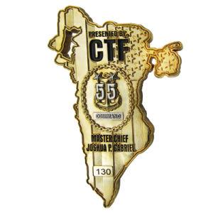 Chapado en oro delicada Chanlleange Moneda (081)