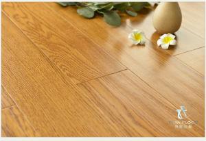 Ingeniería de suelos de madera de roble, Handscraped, Laca UV