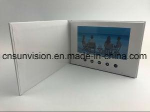 두꺼운 표지의 책 5  LCD 브로셔 사업 매매 영상 우송자 카드
