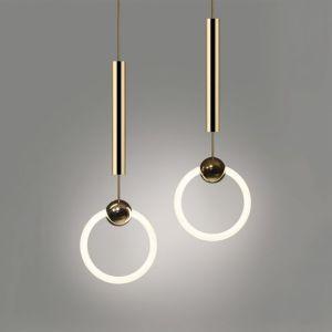 Кольцо подвесной светильник, круги современной подвесной светильник,