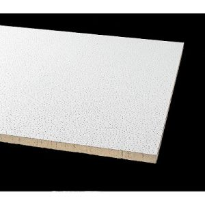 Insonorisées acoustiques décoratifs chute de la laine de fibre minérale de panneaux de tuiles de plafond