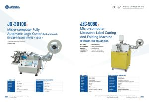 Stacking Function를 가진 Jq-3010b Hot와 Cold Automatic Garment Label Cutting Machine