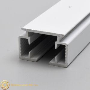 Faixa lateral em alumínio e vidro corrediço Silience suave