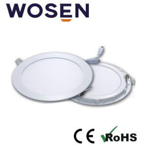 60lm/W panel LED redonda de la luz con Ce aprobada para la exposición