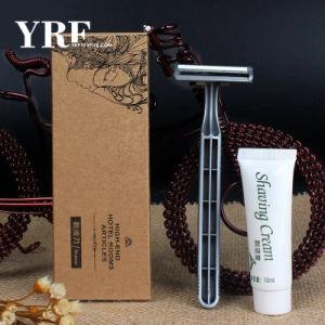 Desechables de plástico de alta calidad las comodidades del hotel maquinilla de afeitar