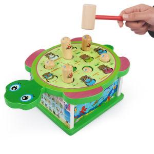 Formato de tartaruga criativos golpes de martelo de banco de brinquedos de madeira