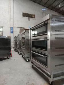 Apparatuur 3 Dek 6 van het Baksel van de luxe de Oven van het Dek van de Pizza van het Gas van Dienbladen voor Bakkerij